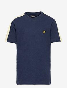 Shoulder Stripe T-Shirt - kurzärmelige - navy blazer