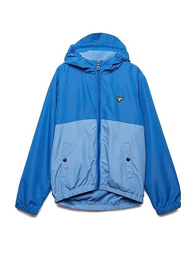Colour Block Jacket - LAKE BLUE