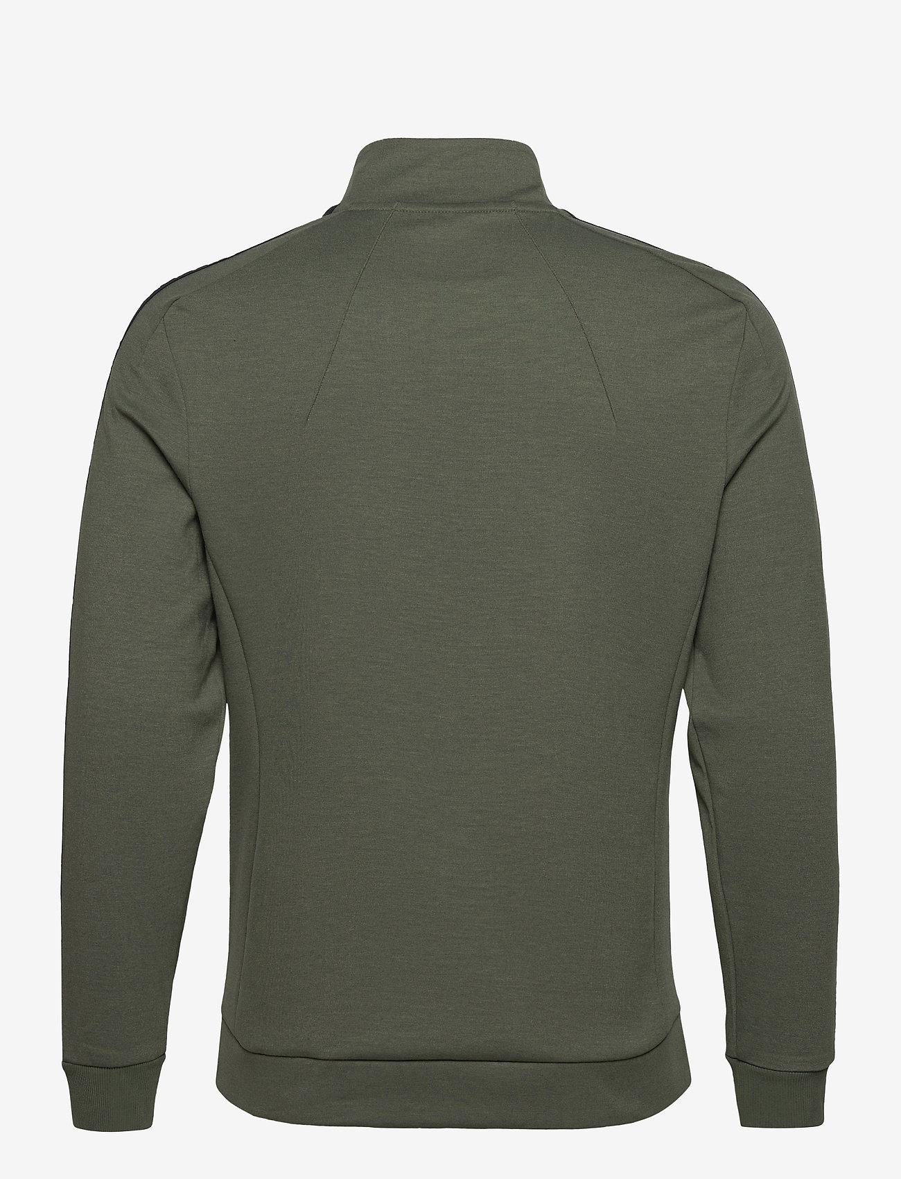 Lyle & Scott Sport - Sleeve Tape Full Zip Midlayer - basic-sweatshirts - cactus green - 1