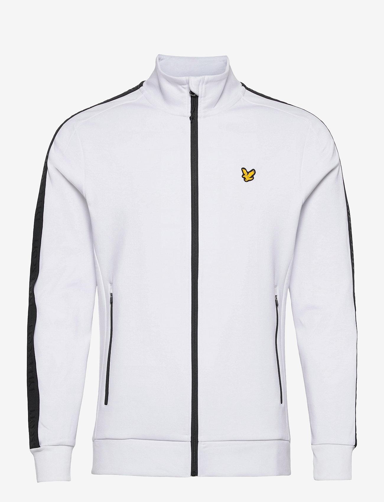 Lyle & Scott Sport - Sleeve Tape Full Zip Midlayer - basic-sweatshirts - white - 0