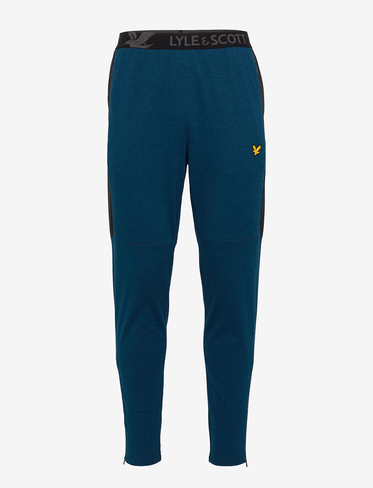 Lyle & Scott Sport - Colour Breaker Track Pants - pants - deep fjord marl - 0