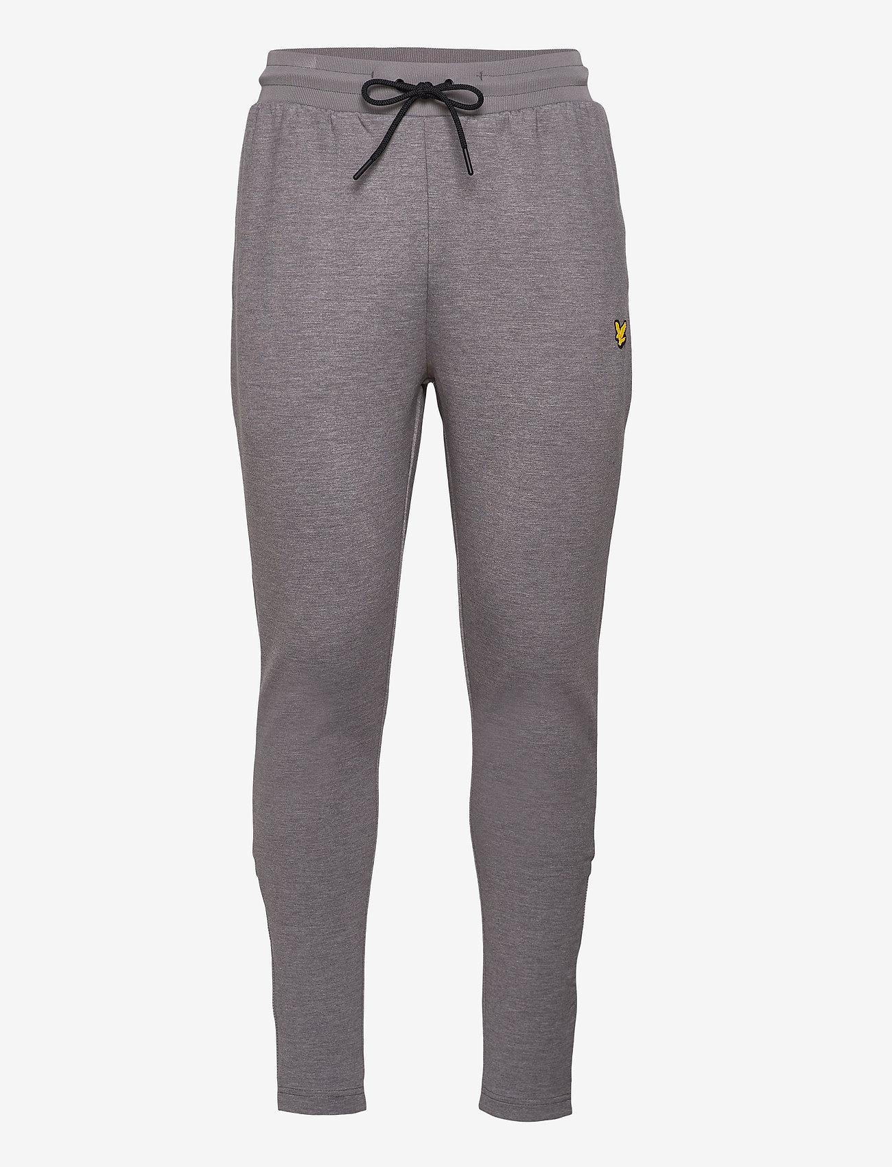 Lyle & Scott Sport - Fly Fleece Trackies - spodnie treningowe - mid grey marl - 0
