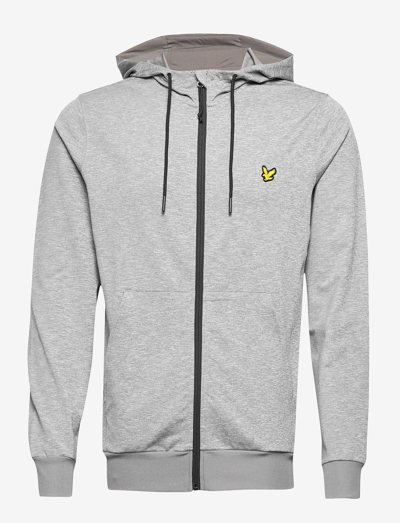 Lyle & Scott Sport - Superwick Full Zip Midlayer - basic sweatshirts - mid grey marl - 0