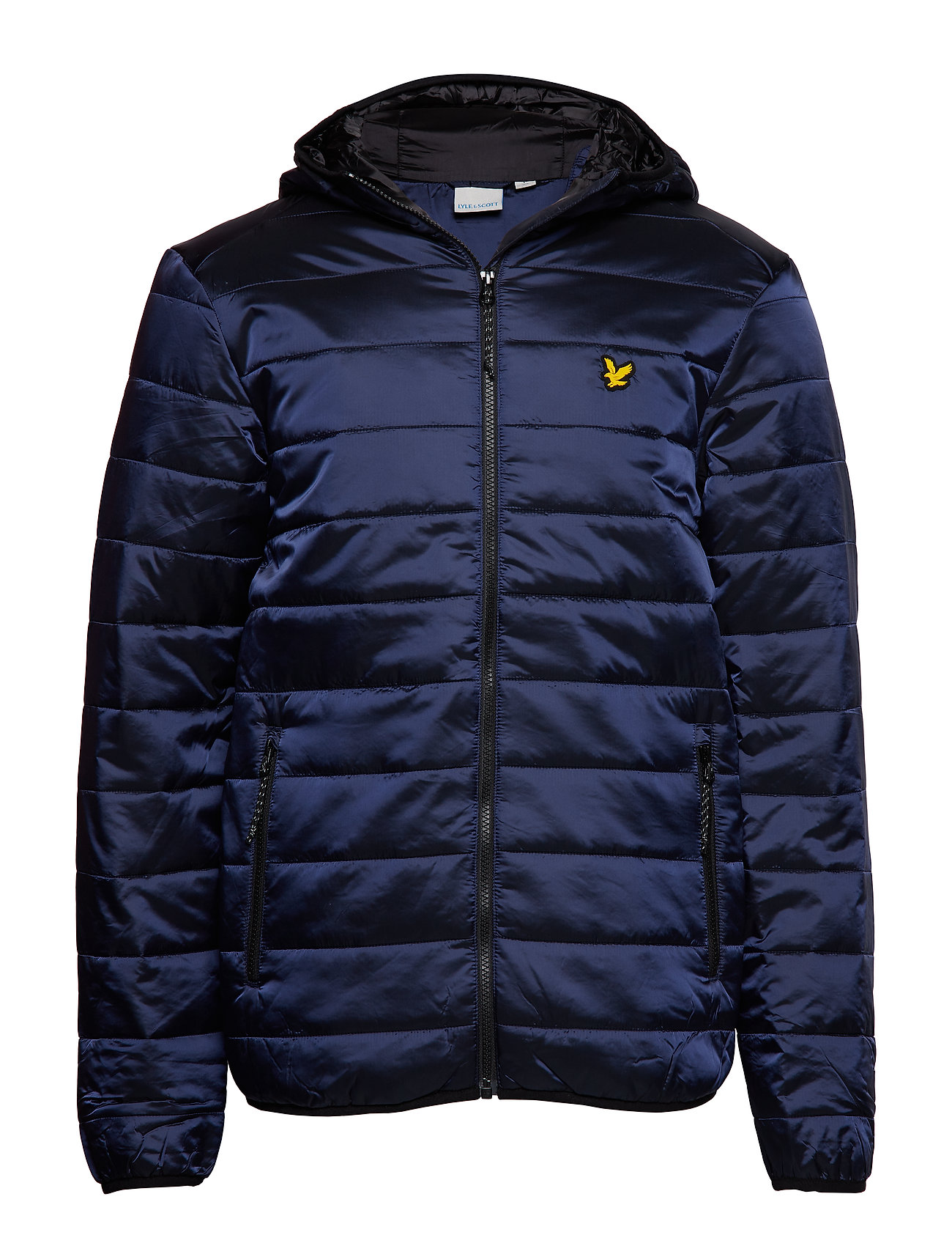 Lyle & Scott Sport Cooke Jacket : Insulated Foil Jacket with Hood - NAVY