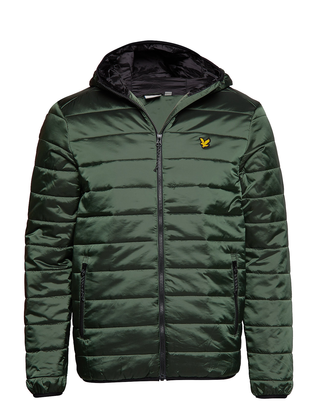 Lyle & Scott Sport Cooke Jacket : Insulated Foil Jacket with Hood - OLIVE