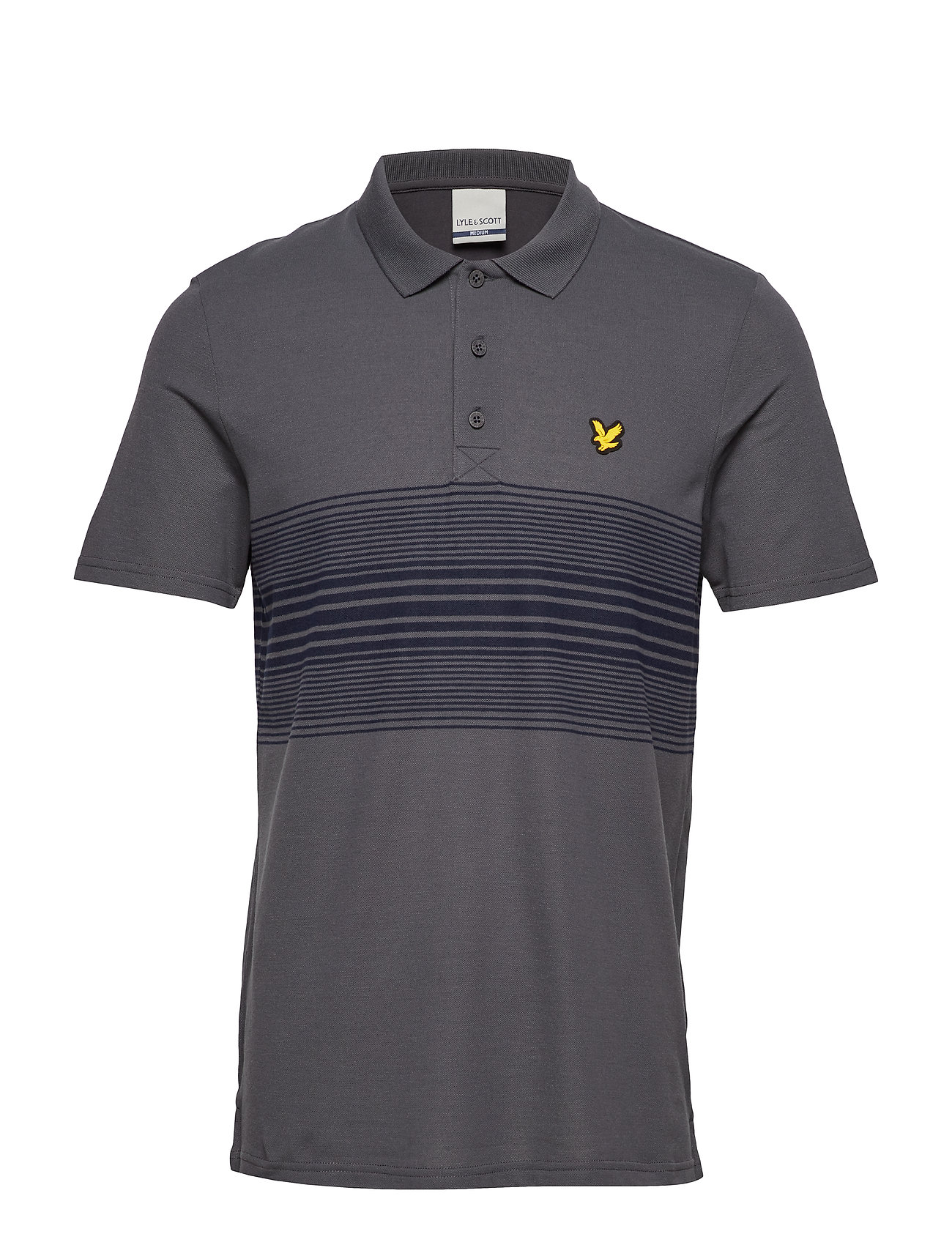 Lyle & Scott Sport Golf Chest Stripe Polo - THUNDER GREY