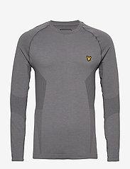 Lyle & Scott Sport - Performance Seamless Baselayer - bluzki z długim rękawem - mid grey marl - 0