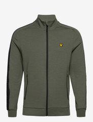 Lyle & Scott Sport - Sleeve Tape Full Zip Midlayer - basic-sweatshirts - cactus green - 0