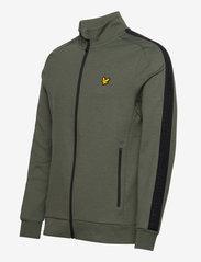 Lyle & Scott Sport - Sleeve Tape Full Zip Midlayer - basic-sweatshirts - cactus green - 2