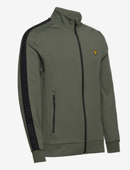 Lyle & Scott Sport - Sleeve Tape Full Zip Midlayer - basic-sweatshirts - cactus green - 3