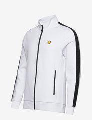 Lyle & Scott Sport - Sleeve Tape Full Zip Midlayer - basic-sweatshirts - white - 2