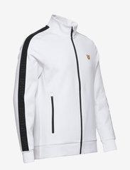 Lyle & Scott Sport - Sleeve Tape Full Zip Midlayer - basic-sweatshirts - white - 3
