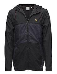 Full Zip Windbreaker Hood - TRUE BLACK