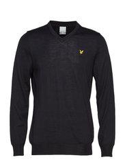 Golf V Neck Pullover - TRUE BLACK
