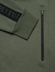 Lyle & Scott Sport - Sleeve Tape Full Zip Midlayer - basic-sweatshirts - cactus green - 5