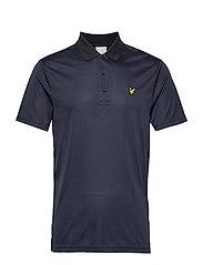 Golf Microstripe Polo - TRUE BLACK/NAVY