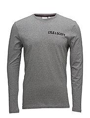 McGowan LS Graphic T-shirt - MID GREY MARL