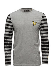 Attaquer LS T Shirt - MID GREY MARL
