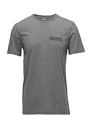Pendle SS Small Logo T-Shirt - MID GREY MARL