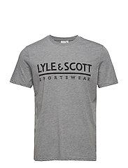Harridge SS Large Logo T-Shirt - MID GREY MARL