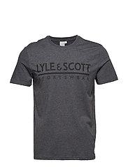 Harridge SS Large Logo T-Shirt - TRUE BLACK MARL