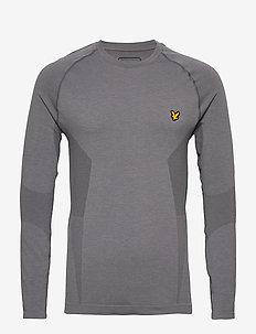 Performance Seamless Baselayer - bluzki z długim rękawem - mid grey marl
