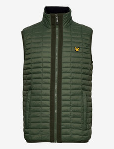 Block Quilted Gilet - sports jackets - cactus green