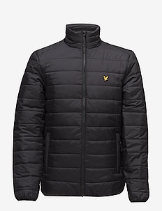 Lloyd Jacket : Insulated zip through jacket - TRUE BLACK/BLACK