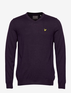 Golf V Neck Pullover - v-hals - plum wine