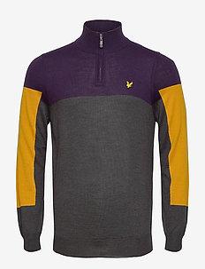 Moffat 1/4 Zip Pullover - half zip - observer grey