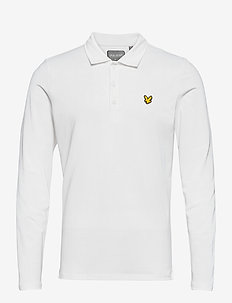Long Sleeve Polo Shirt - langærmede - white