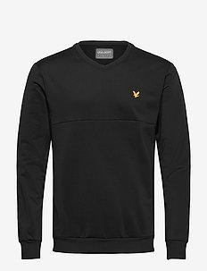 V-Neck Colour Block Midlayer - basic-sweatshirts - true black