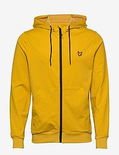 Superwick Full Zip Midlayer - podstawowe bluzy - burnt yellow