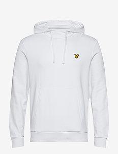 Back Print Hoodie Midlayer - basic sweatshirts - white