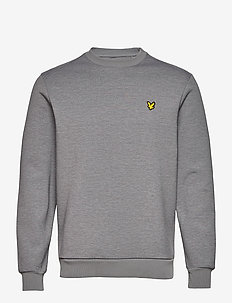 Crew Neck Fly Fleece - basic-sweatshirts - mid grey marl