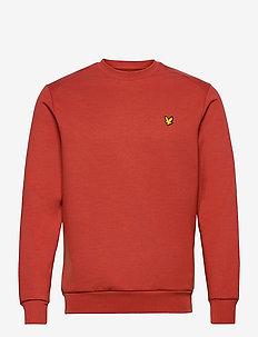 Crew Neck Fly Fleece - basic-sweatshirts - terracotta orange