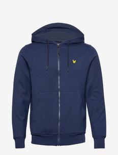Full Zip Fly Fleece Hoodie - vestes couche intermédiaire - navy