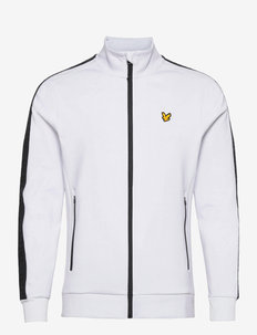 Sleeve Tape Full Zip Midlayer - basic-sweatshirts - white
