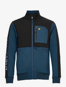 Overlay Midlayer with Chest Pocket - swetry - aegean blue