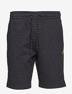 Fleece Short - TRUE BLACK MARL