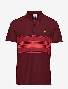 Golf Chest Stripe Polo - BURNT VELVET