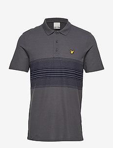 Golf Chest Stripe Polo - THUNDER GREY