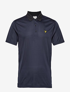 Golf Microstripe Polo - TRUE BLACK/NAVY