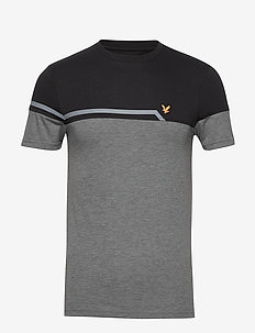 Block T-Shirt - topy sportowe - mid grey marl