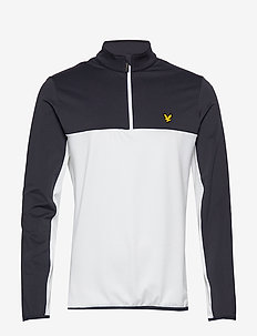 Ventech Colour Block Midlayer - basic sweatshirts - white marl