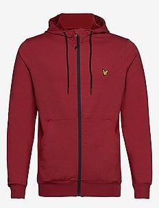 Superwick Full Zip Midlayer - basic sweatshirts - turbo red