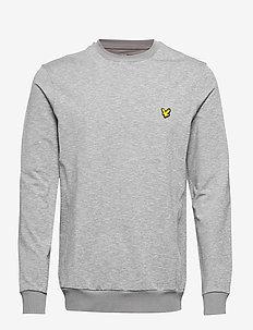 Superwick Crew Neck Midlayer - basic sweatshirts - mid grey marl