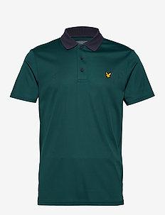 Golf Microstripe Polo - GRAPHITE/TEAL GREEN