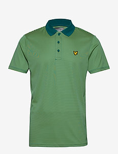 Golf Microstripe Polo - TEAL GREEN/LIME GREEN