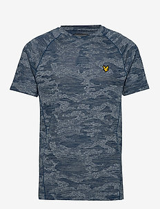 Camo Sports Tee - t-shirts - deep fjord/seawave